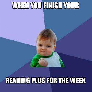 Reading Plus Meme